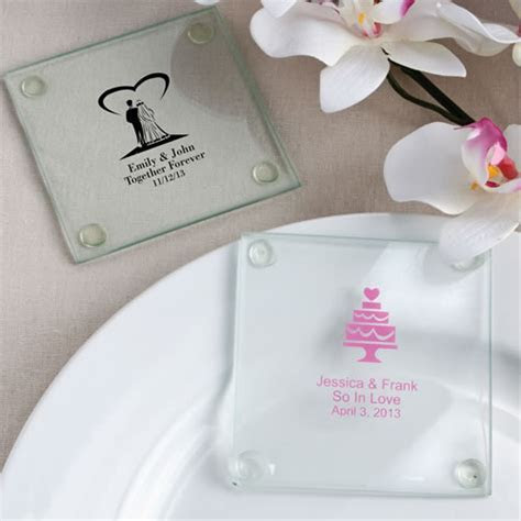 120 Personalized Glass Coasters Wedding / Baby Shower