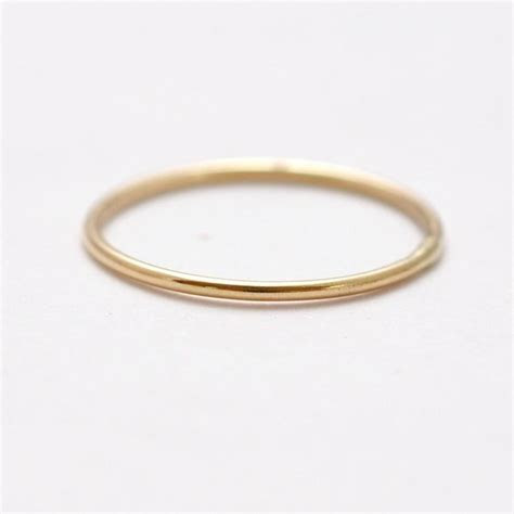 Gold Wedding Band: Thin 14K Rings, Gifts Under 100