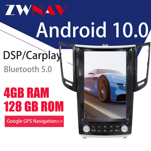 Discount Offer ZWNAV 4G128G PX6 Android 10 Tesla Style Car GPS Navigation Player for Infiniti FX FX25 FX35 FX37 qx70 radio tape recorder