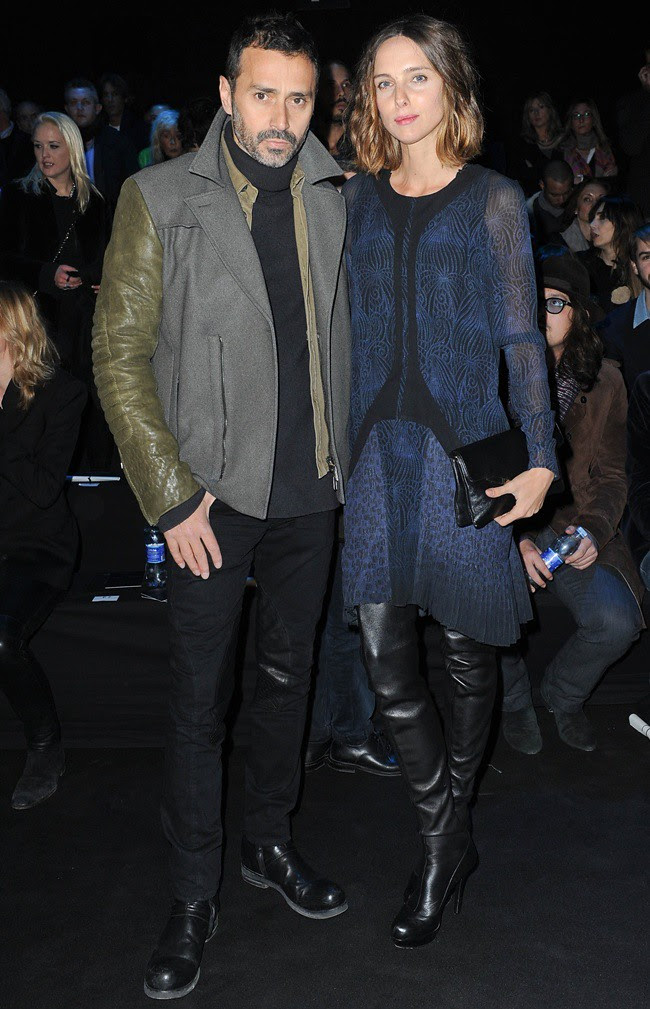 2 Fabio Novembre - Candela Novembre @ Roberto Cavalli Menswear AW1213 fashion show 14-01-2011 Milan