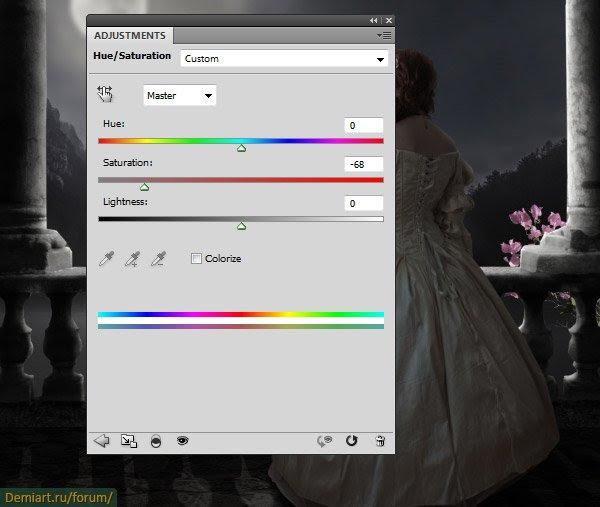 Как создать сцену лунного свечения в Photoshop