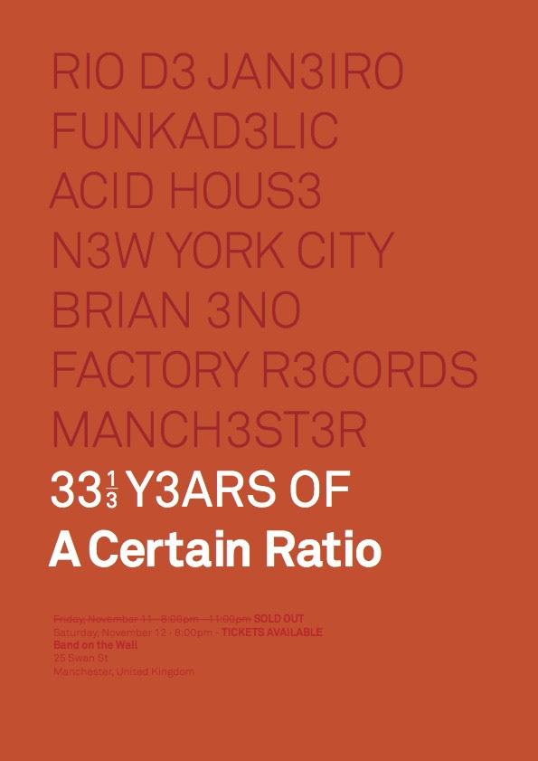 12 Nov 2011, Band On The Wall, Manchester - ACR Gigography
