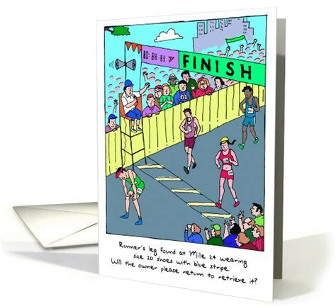 Runner's Leg : Marathon Finish card (470958)