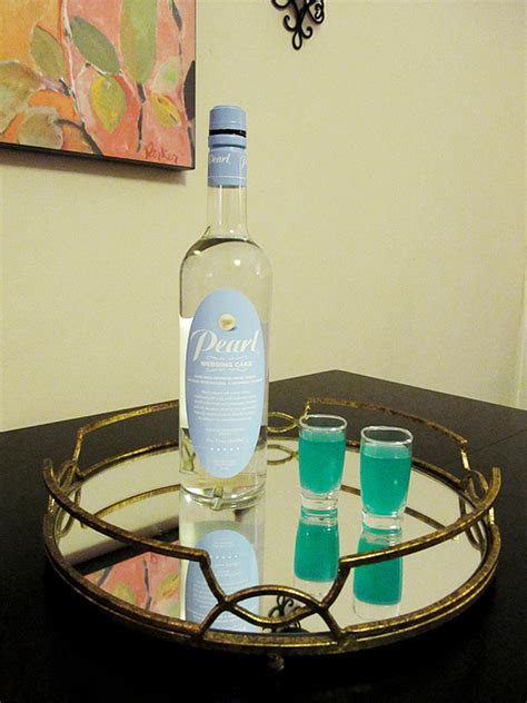 Celebratory Drinks with Pearl Wedding Cake Vodka & Liquid