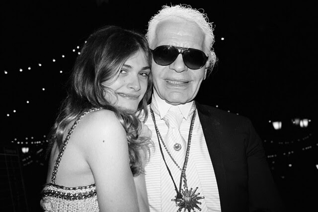 Elisa Sednaqui and Karl at Chanel Cruise - Photo by Bella Howard