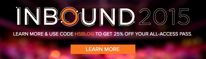 learn more about INBOUND 2015 and get 25% off