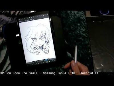 XP-Pen Deco Pro Small - Samsung Tab A T510 - Android 11