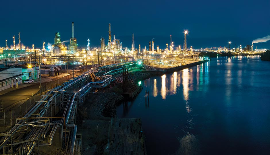 The PES refinery in South Philly. Photograph by Jonathan Barkat