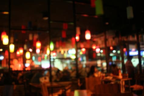 Blur restaurant background ~ Abstract Photos ~ Creative Market