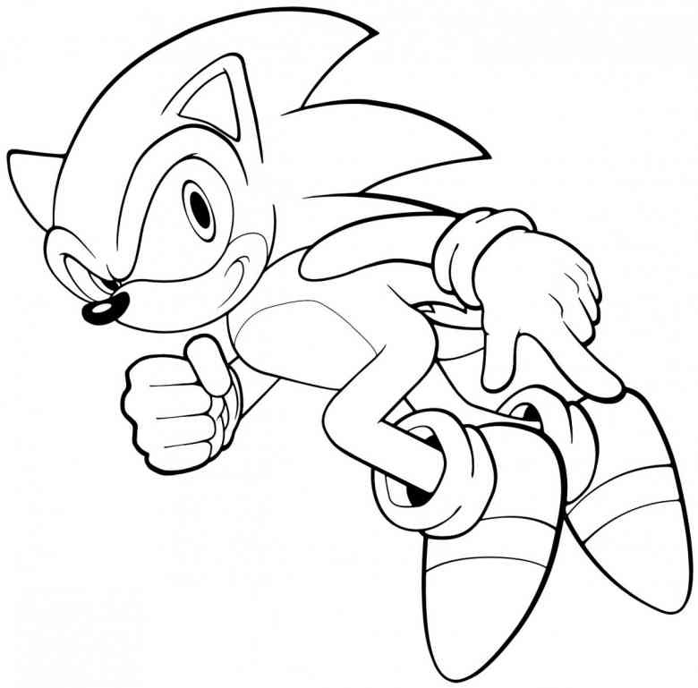 Free Printable Sonic The Hedgehog Coloring Pages For Kids - Coloring Pages