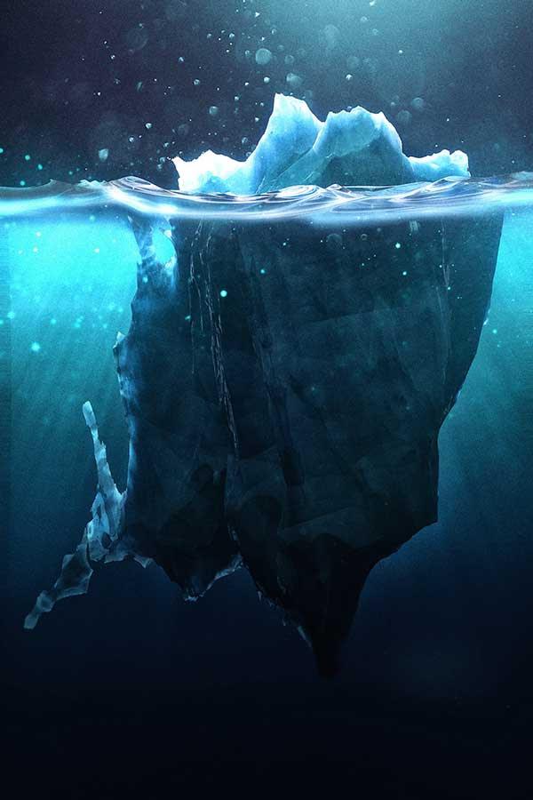 Πώς είναι τα παγόβουνα κάτω από το νερό!