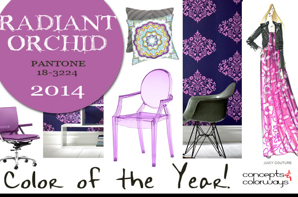 radiant orchid interior design Concepts and Colorways