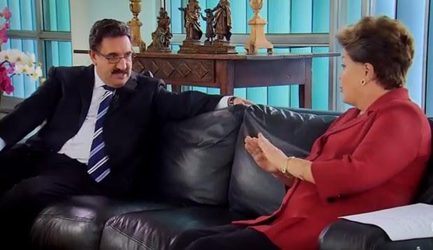 Dilma Rousseff no Ratinho (Foto: Reprodução / Youtube)