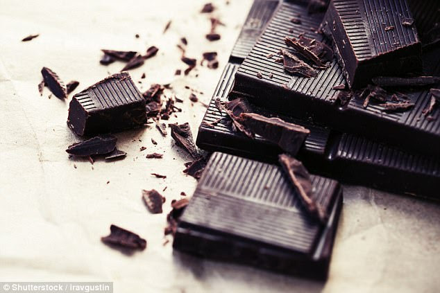 Eating chocolate five times a week reduces an overweight person's risk of a heart attack