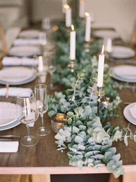 eucalyptus table runner. This smells amazing, is