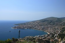 The city of Saranda on the Albanian Riviera. The huge increase in  tourist numbers to Albania has led to a boom in hotel construction along  this stretch of coast. Photo / Thinkstock