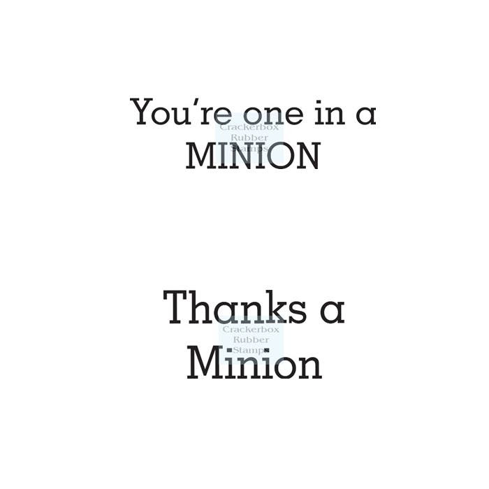 One in a Minion and Thanks by So Suzy Stamps
