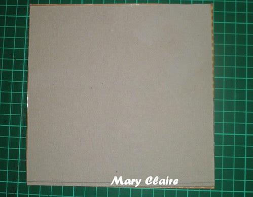 base rettangolo di cartone