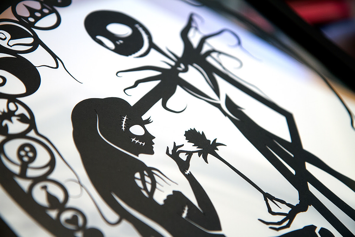 Nightmare Before Christmas Silhouette Handcut Paper Craft