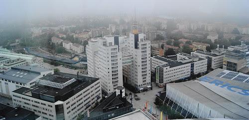 Misty Stockholm (bird's eye view)