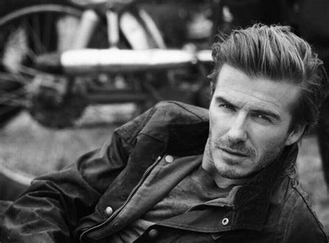 David Beckham Rides Motorcycle, Shows Rugged, Sexy Side in