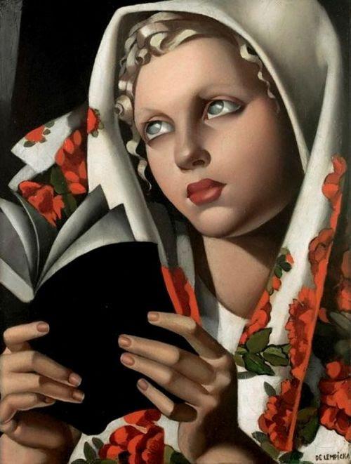 Rapture reader: erotic novel or mystical poetry? / Arrebato lector: novela erótica o poesía mística? (ilustración de Tamara de Lempicka)