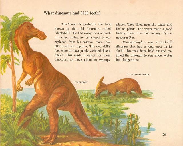 Trachodon and Parasaurolophus