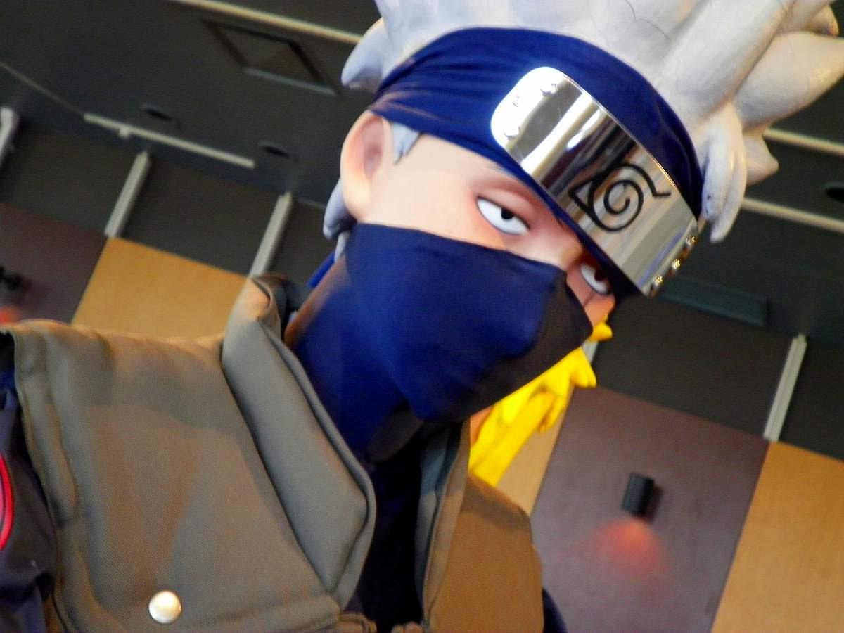 NARUTO -ナルト- 疾風伝 はたけカカシの等身大人形。