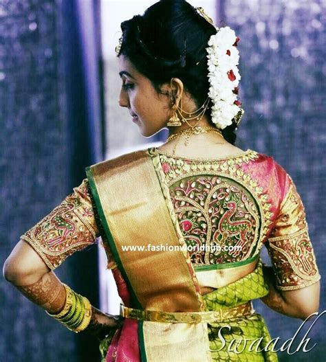 Embrioidery maggam work blouses   blouses   Silk saree