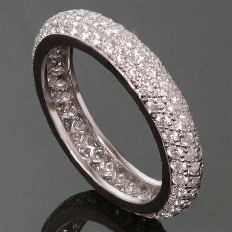 cartier wedding bands   CARTIER Platinum Pave Diamond