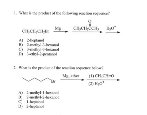 solved     product    reaction