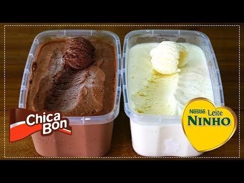 SORVETE CASEIRO CHOCOLATE E LEITE NINHO