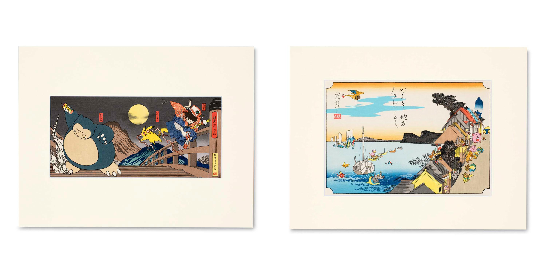 These Pokemon woodblock prints don't come cheap screenshot
