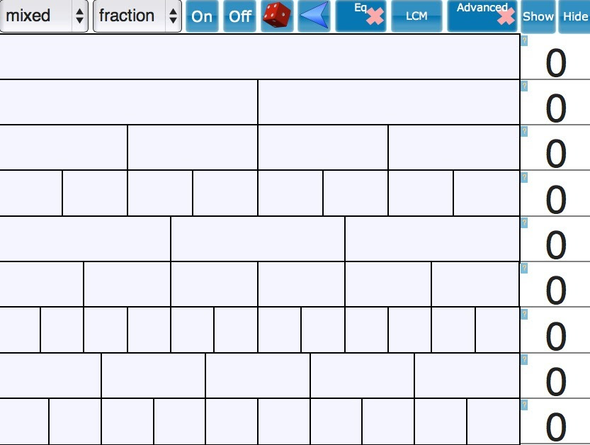 Interactive Fraction Wall explore Fractions Per...