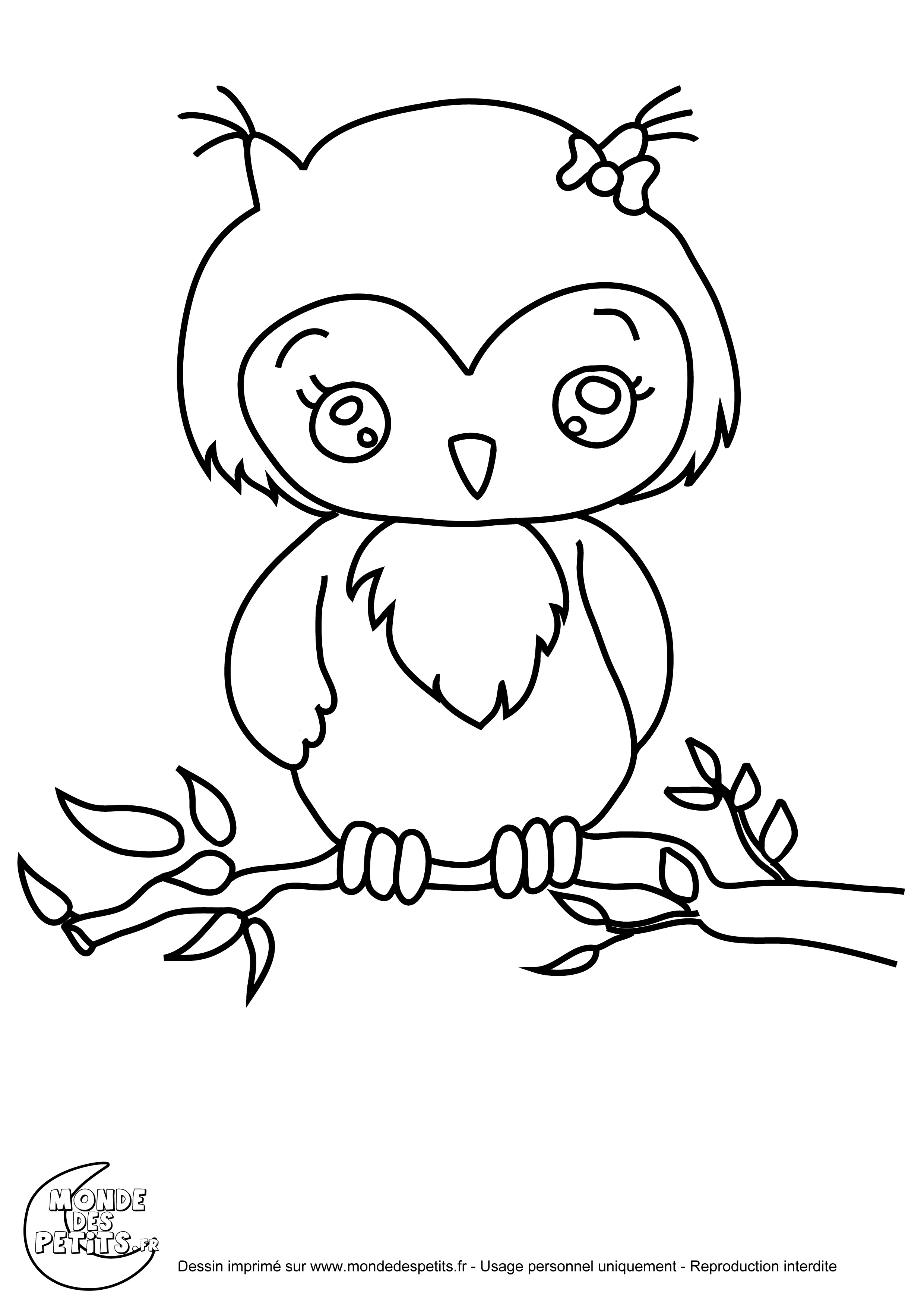 cool coloriage le hibou with coloriage de ariol