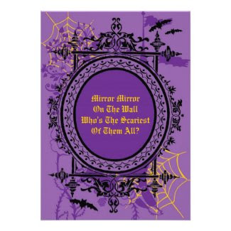 Mirror Mirror Halloween InvitationInvitation Announcements