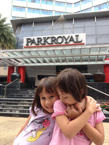 The girls had fun at PARKROYAL on Kitchener Road