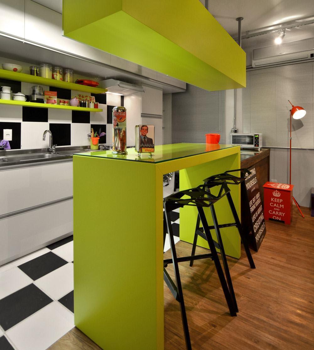 Resultado de imagem para decoração cor verde na cozinha