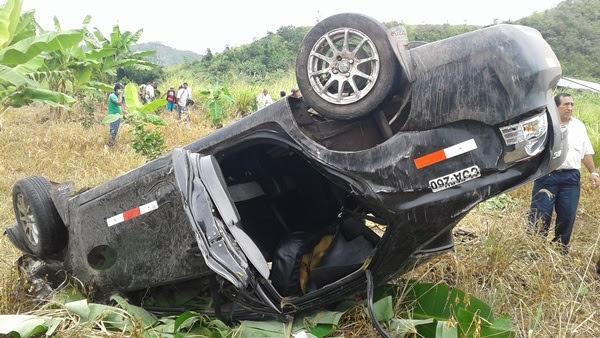 AUTO LUEGO DEL ACCIDENTE