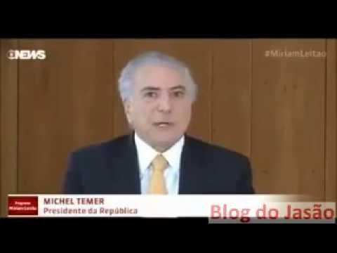 Presidente Michel Temer em entrevista, diz que sua aposentadoria foi precoce.