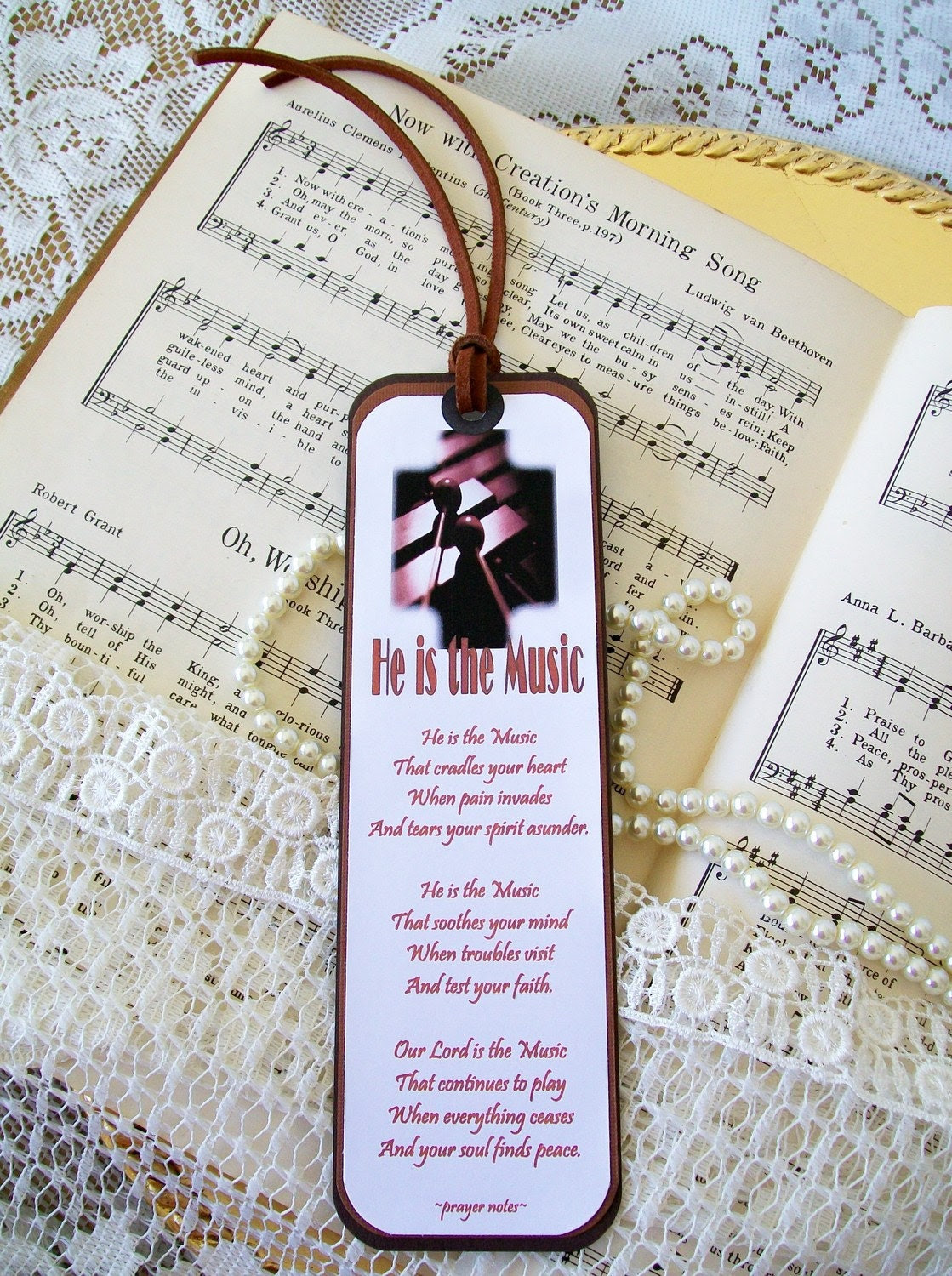 Bookmarks Christian-Paper Bookmark-Religious-Bookmarks-He is the Music Free Verse