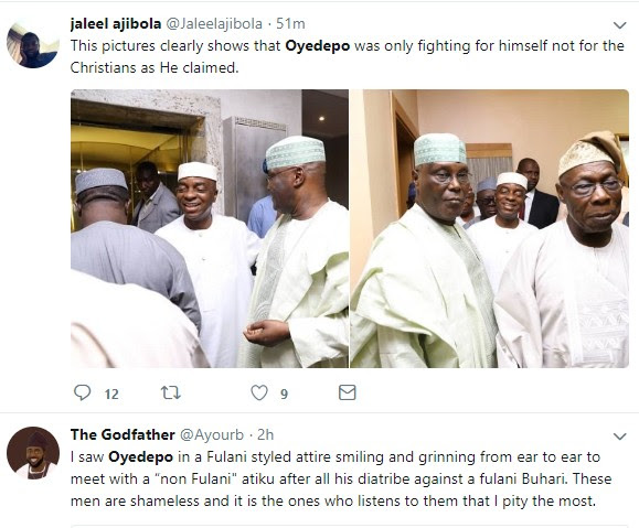 What Nigerians Are Saying About Bishop Oyedepo After Meeting With Obasanjo, Atiku
