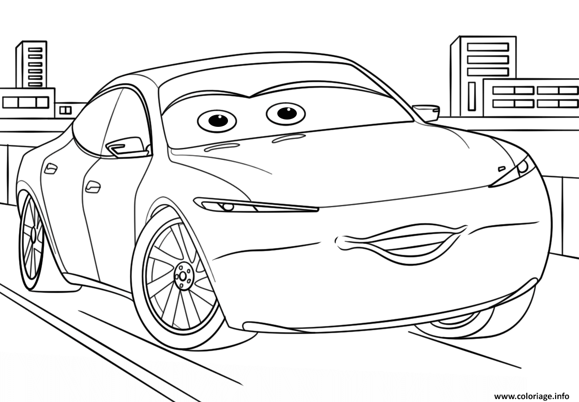 Coloriage natalie certain from cars 3 disney