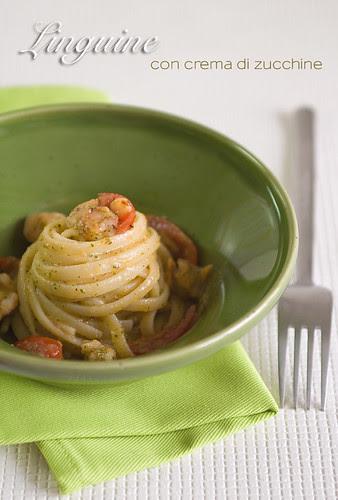 Linguine con crema di zucchine