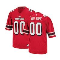 adidas Louisville Cardinals Custom Replica Football Jersey - Red