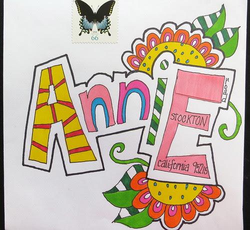Pretty envelope to Annie