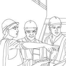 Dibujo De Ingeniero Trabajando Para Colorear Auto Electrical
