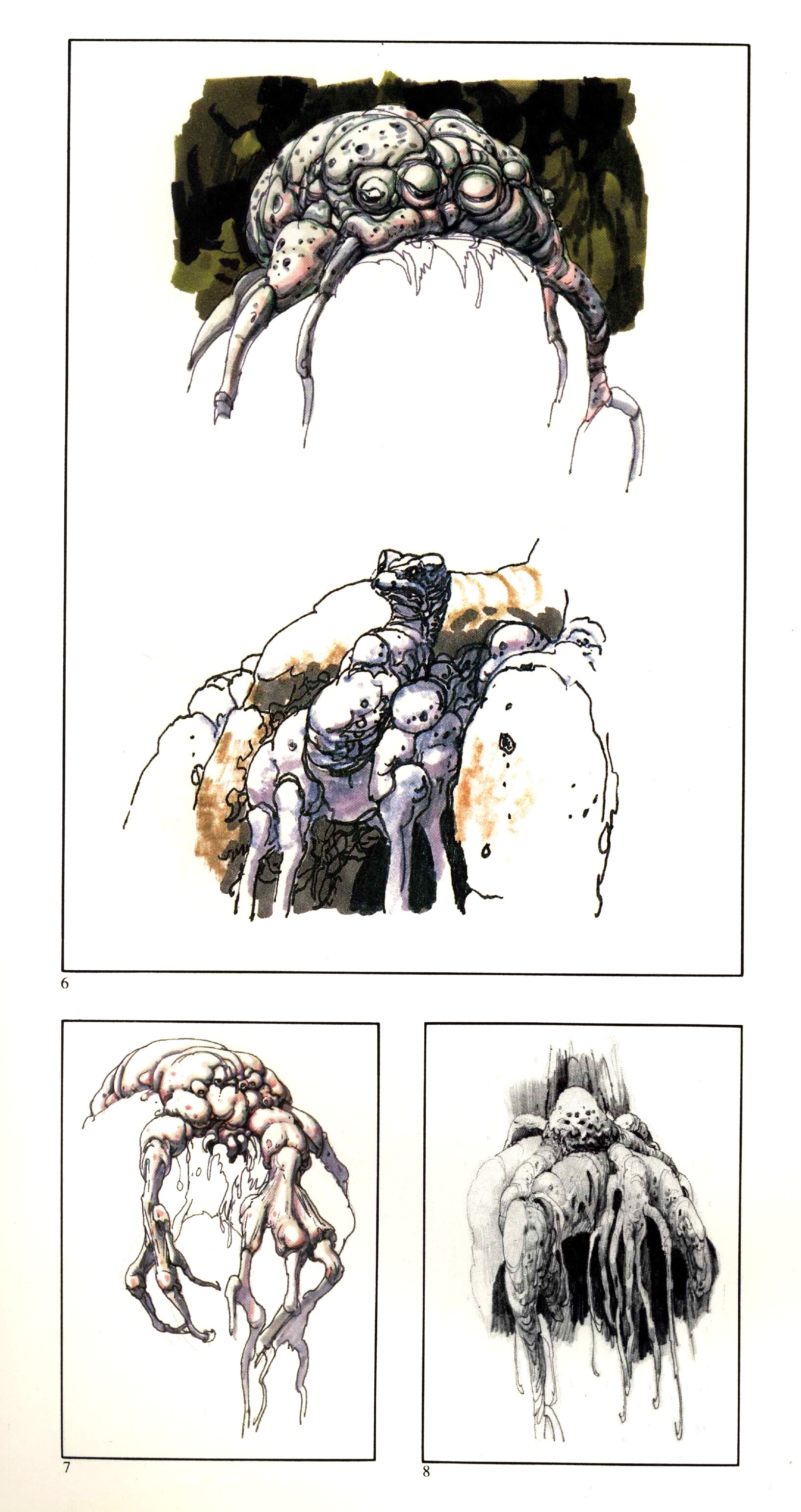 Ralph Mcquarrie - Swamp Creature Sketches 2
