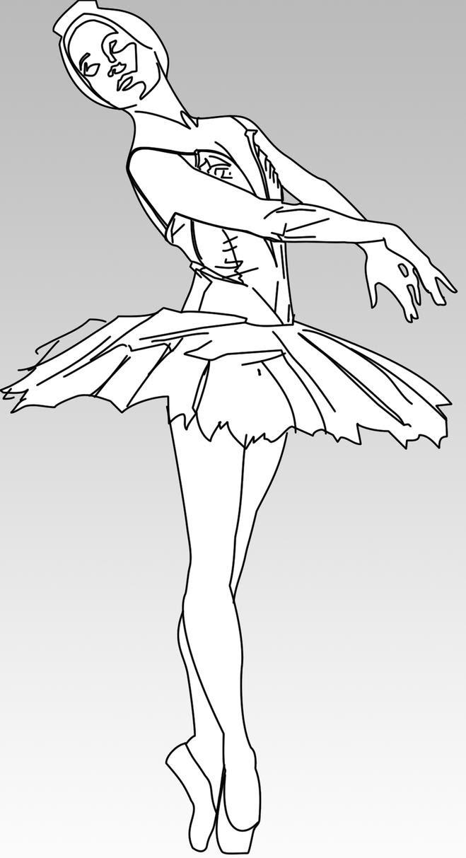Disegni Di Ballerina Da Stampare Disegno Di Odette In Primo Piano