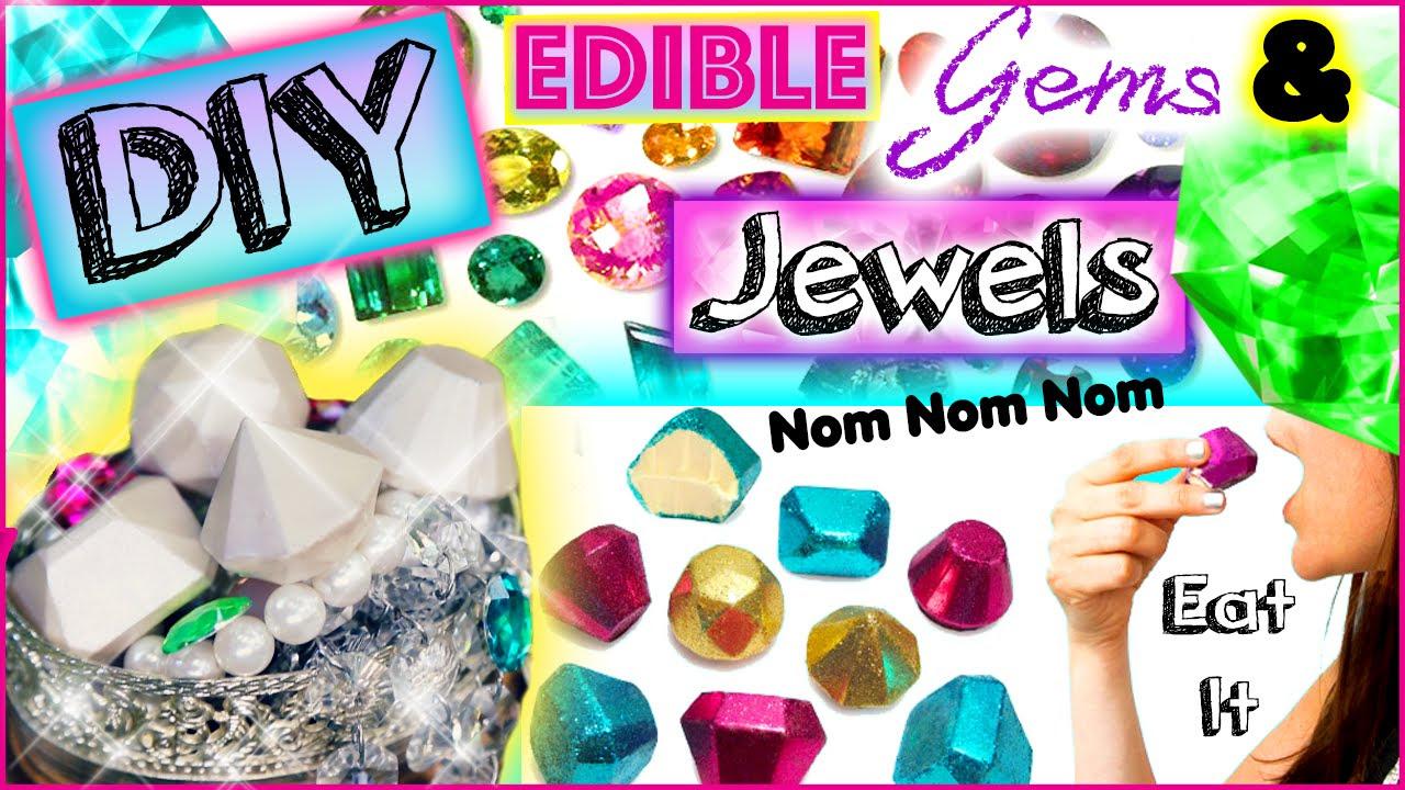 DIY Edible Jewels & Gems! Eat Diamonds For Dinner! Yummy! - YouTube